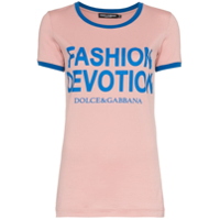 Dolce & Gabbana Camiseta Com Estampa 'fashion Devotion' - Rosa