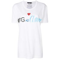 Dolce & Gabbana Camiseta '#dg Is Amore' - Branco