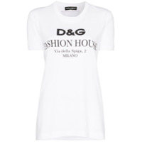 Dolce & Gabbana Fashion House Logo Print T-Shirt - Branco