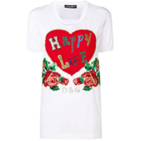 Dolce & Gabbana Happy Life Heart T-Shirt - Branco