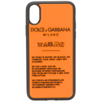 Dolce & Gabbana Logo Washing Instructions Iphone X Case - Laranja