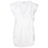 Dondup Ruffled Blouse - Branco