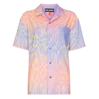 Double Rainbouu Camisa Com Estampa 'hawaiian' - Pink