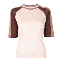 Drome Blusa Color Block Com Mangas Curtas - Estampado