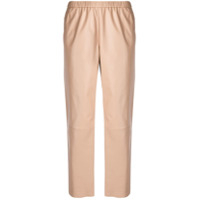 Drome Cropped High Waisted Trousers - Marrom