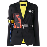 Dsquared2 Acid Glam Punk Blazer - Preto