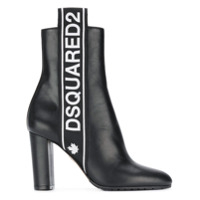 Dsquared2 Ankle Boot Com Logo - Preto