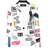 Dsquared2 Blazer Com Patch - Branco