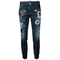 Dsquared2 Calça Jeans Com Patch 'cool Girl' - Azul