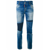 Dsquared2 Calça Jeans Cropped Com Patch 'cool Girl' - Azul