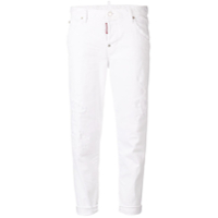 Dsquared2 Calça Jeans Cropped Destroyed - Branco