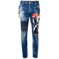 Dsquared2 Calça Jeans No Imitators - Azul