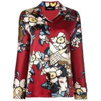 Dsquared2 Camisa Estampada De Seda - Estampado