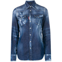 Dsquared2 Camisa Jeans Mangas Longas - Azul