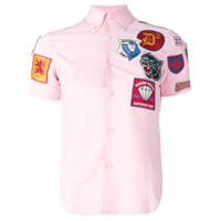 Dsquared2 Camisa Mangas Curtas Com Patch - Rosa