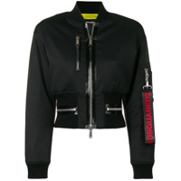 Dsquared2 Cropped Bomber Jacket - Preto