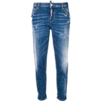 Dsquared2 Distressed Cropped Jeans - Azul