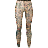 Dsquared2 Legging 'tattoo' - Preto