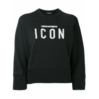Dsquared2 Moletom Com Slogan 'icon' - Preto