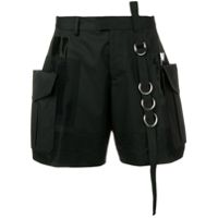 Dsquared2 Patched Detail Cargo Shorts - Preto