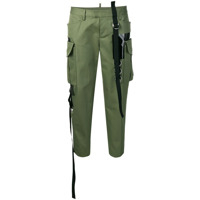 Dsquared2 Strappy Cropped Trousers - Verde