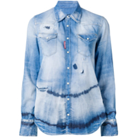 Dsquared2 Camisa Jeans Tie-Dye - Azul