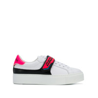 Dsquared2 Touch Strap Logo Sneakers - Branco