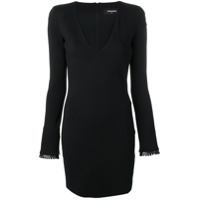 Dsquared2 Vestido Mini Com Decote - Preto