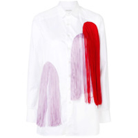Each X Other Colourful Fringe Embellished Shirt - Branco