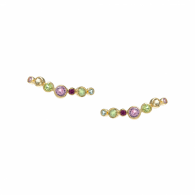 Earcuff Dots Candy Em Ouro