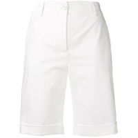Eleventy High-Waisted Tailored Shorts - Branco