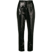Elie Saab Sequins Embroidered Trousers - Preto