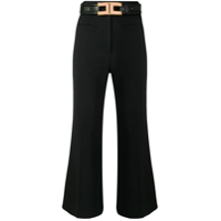 Elisabetta Franchi Belted Cropped Trousers - Preto