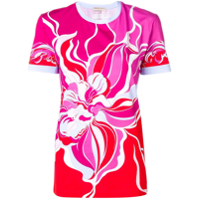 Emilio Pucci Abstract Print T-Shirt - Rosa