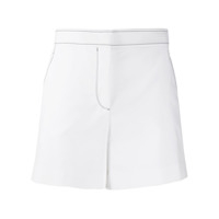 Emilio Pucci Topstitched High-Waisted Shorts - Branco