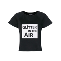 Emporio Armani Camiseta Com Estampa 'glitter In The Air' - Preto