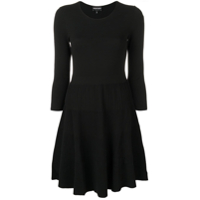 Emporio Armani Flared Fitted Dress - Preto