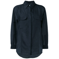 Equipment Camisa Com Bolso No Busto - Azul