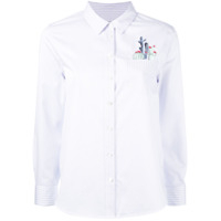 Equipment Camisa Com Bordado - Branco