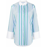 Equipment Camisa Listrada Longa - Azul