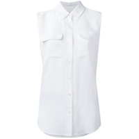 Equipment Camisa Sem Mangas De Seda - Branco