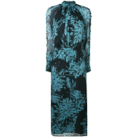 Equipment Vestido Henriette Floral - Azul