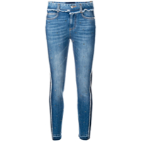 Ermanno Scervino Cropped Two-Tone Jeans - Azul