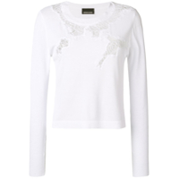 Ermanno Scervino Lace-Detail Sweater - Branco