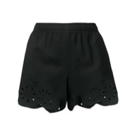 Ermanno Scervino Short Com Bordado - Preto