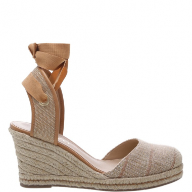 Espadrille Anabela Mix Natural Tan E Natural | Arezzo