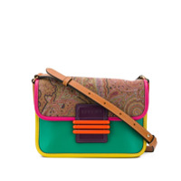 Etro Bolsa Color Block Paisley - Rosa