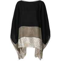 Etro Blusa Color Block - Preto