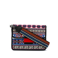 Etro Embroidered Patchwork Shoulder Bag - Preto