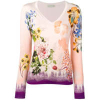 Etro Paisley Flower Knit Sweater - Rosa